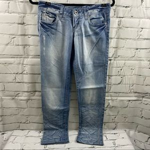 Guess distressed scarlet skinny leg jeans